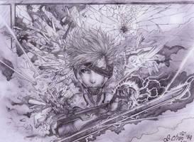 Raiden - Metal Gear by Szczypiorek-Chan