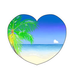 I Heart Beach by RachelNealesArt