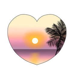 I Heart Sunset by RachelNealesArt
