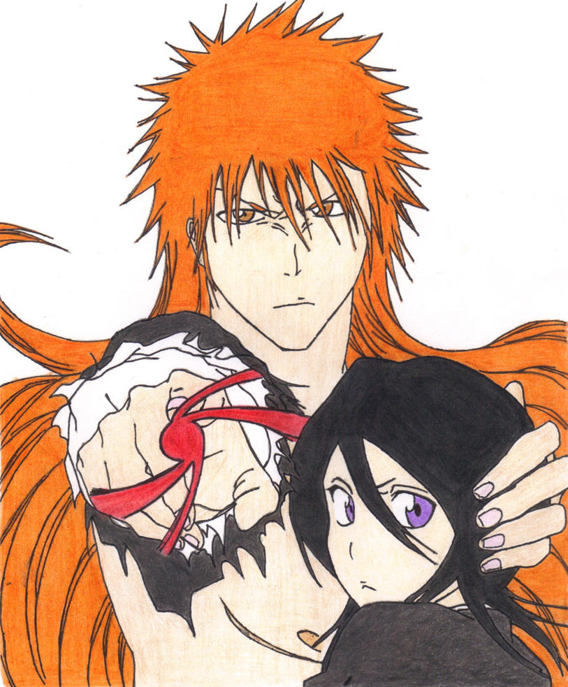Long hair Ichigo and Rukia by Dark-Skater-Girl - 202.5KB