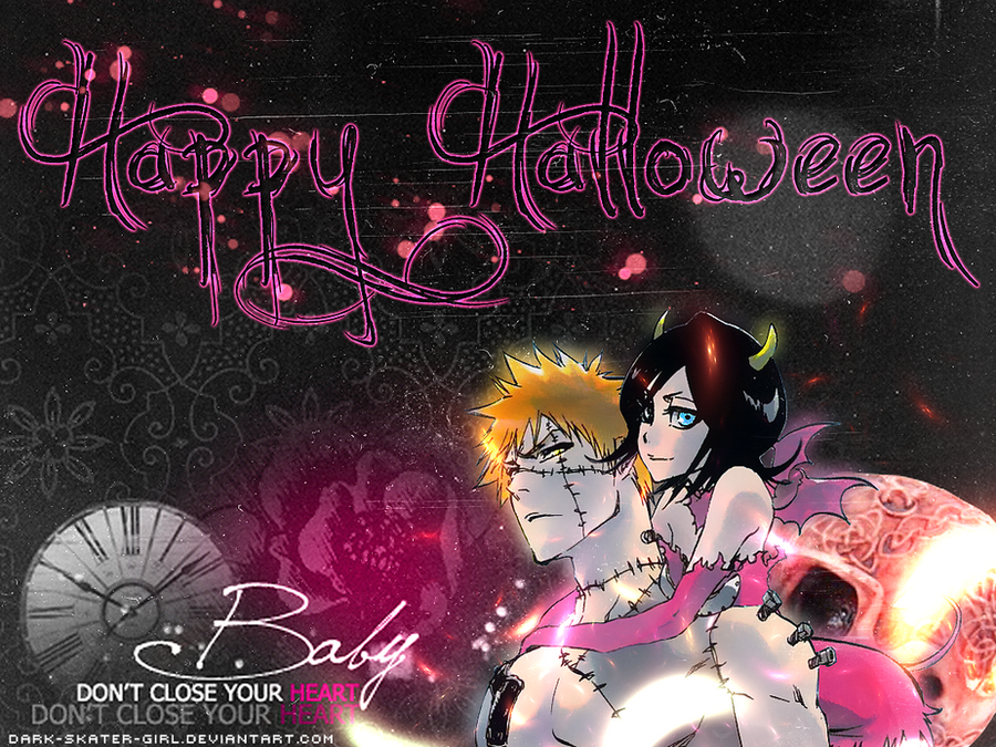 Sexy Halloween Wallpaper by Dark-Skater-Girl