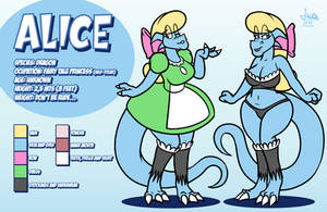 Alice the Dragoness - reference sheet