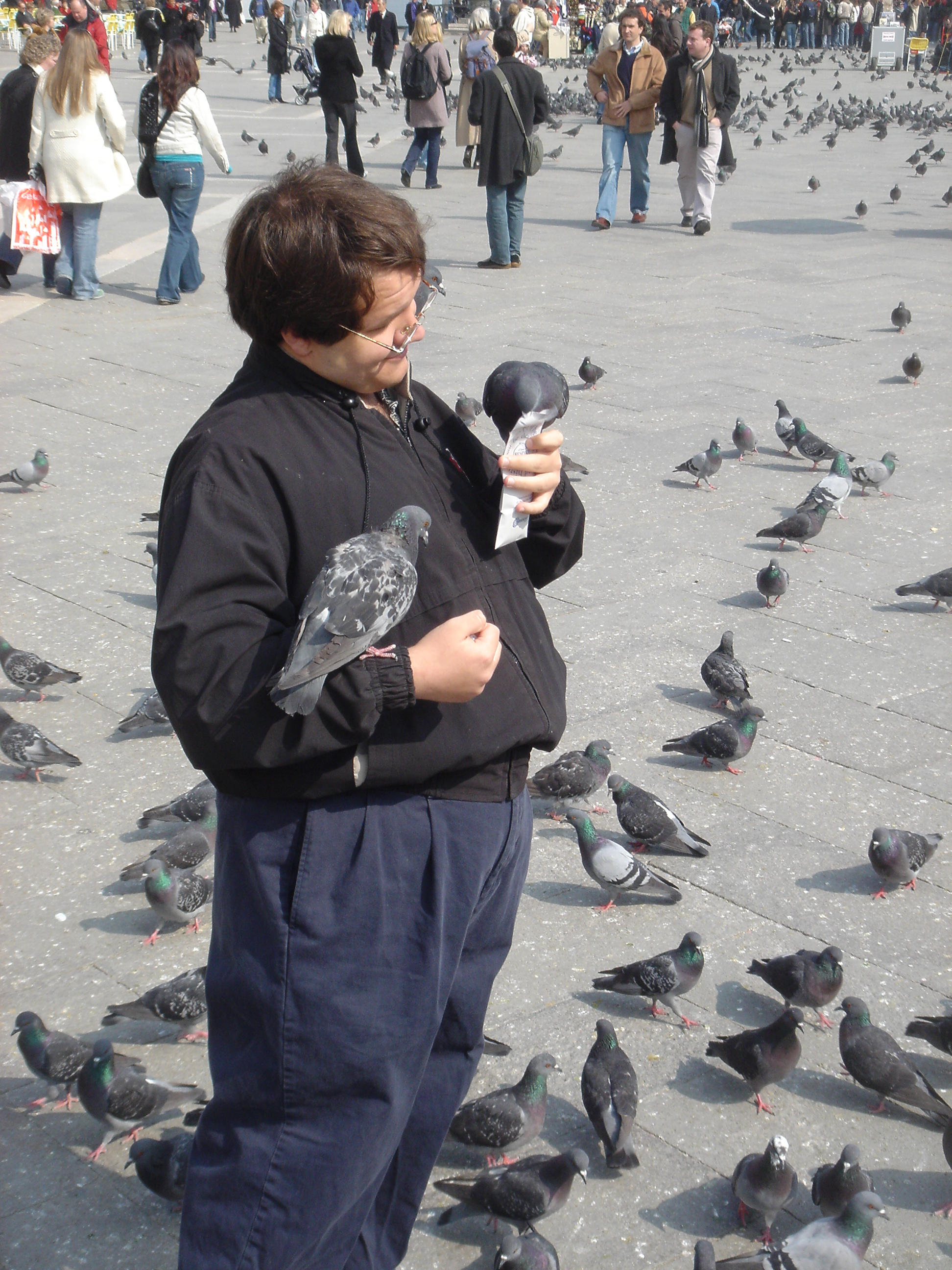 Me with pampered pidgeons by XD-385