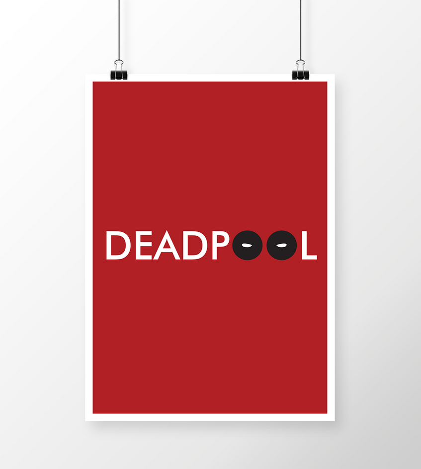 Deadpool Minimalistic poster by fvelazco