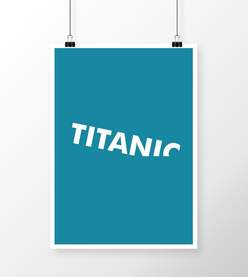 Titanic minimalistic poster by fvelazco