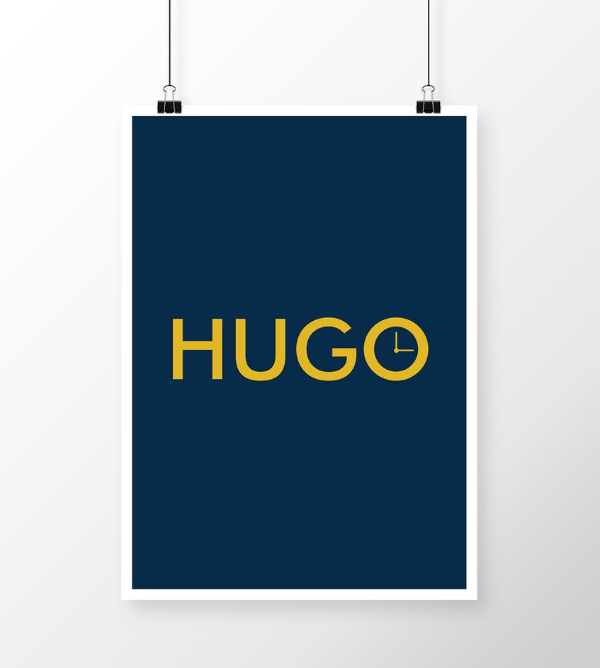 Hugo minimalistic poster by fvelazco