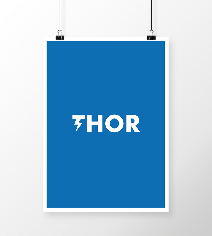 Thor minimalistic poster by fvelazco