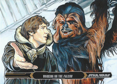 Topps Empire Strikes Back Illustrated #13 by Randy-Martinez