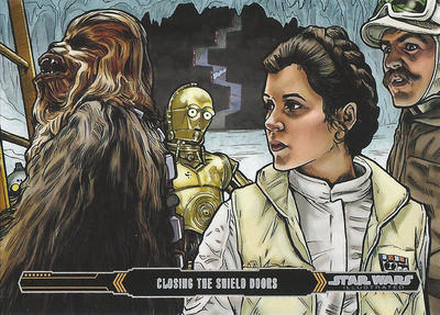 Topps Empire Strikes back Illustrated #23 by Randy-Martinez
