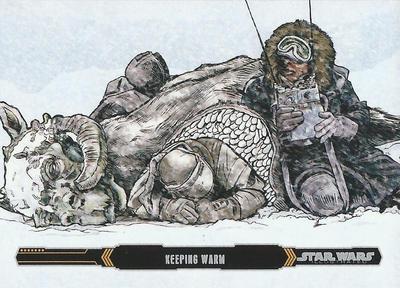 Topps Empire Strikes Back Illustraed #21 by Randy-Martinez