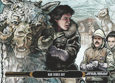 Topps Empire Strikes Back Illustrated #19 by Randy-Martinez