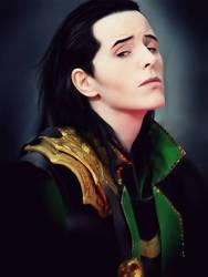 Loki Cosplay: Portrait sitting by FahrSindram