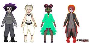 Fierce Characters: Asier, Nikolai, Juhi, Baldurr