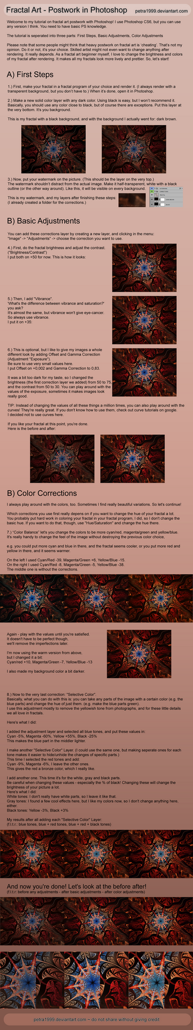 Fractal Postwork in Photoshop - Tutorial by Petra1999