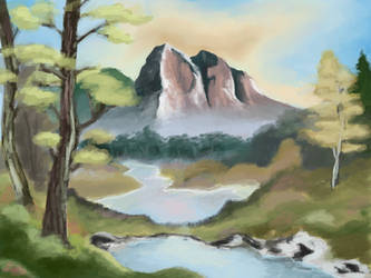 First Landscape Study by Petra1999