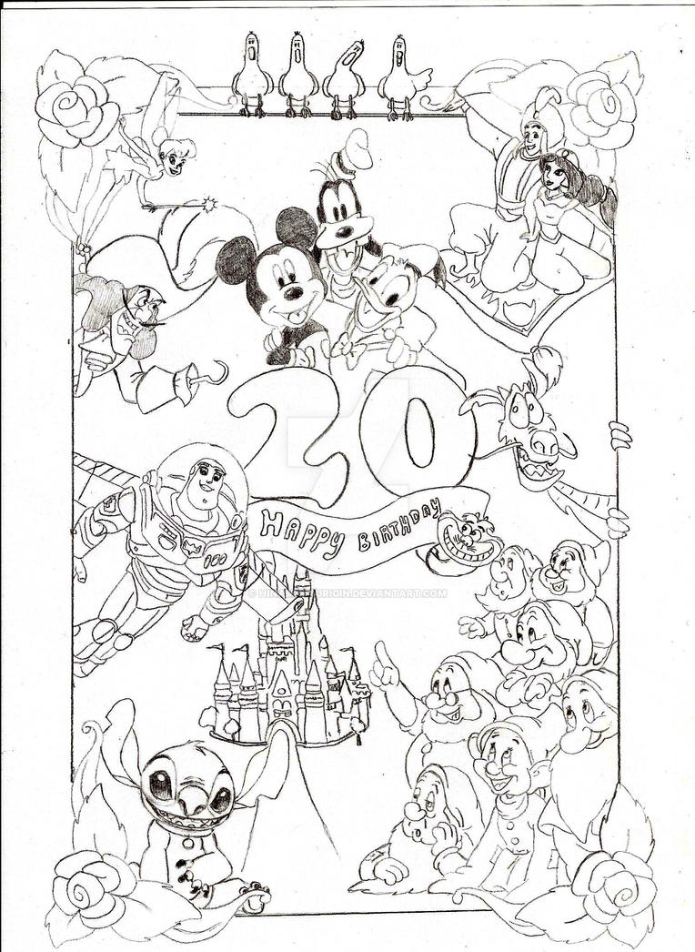 Disney Birthday Card by HinamatsuriGin on DeviantArt – Disney Birthday Cards