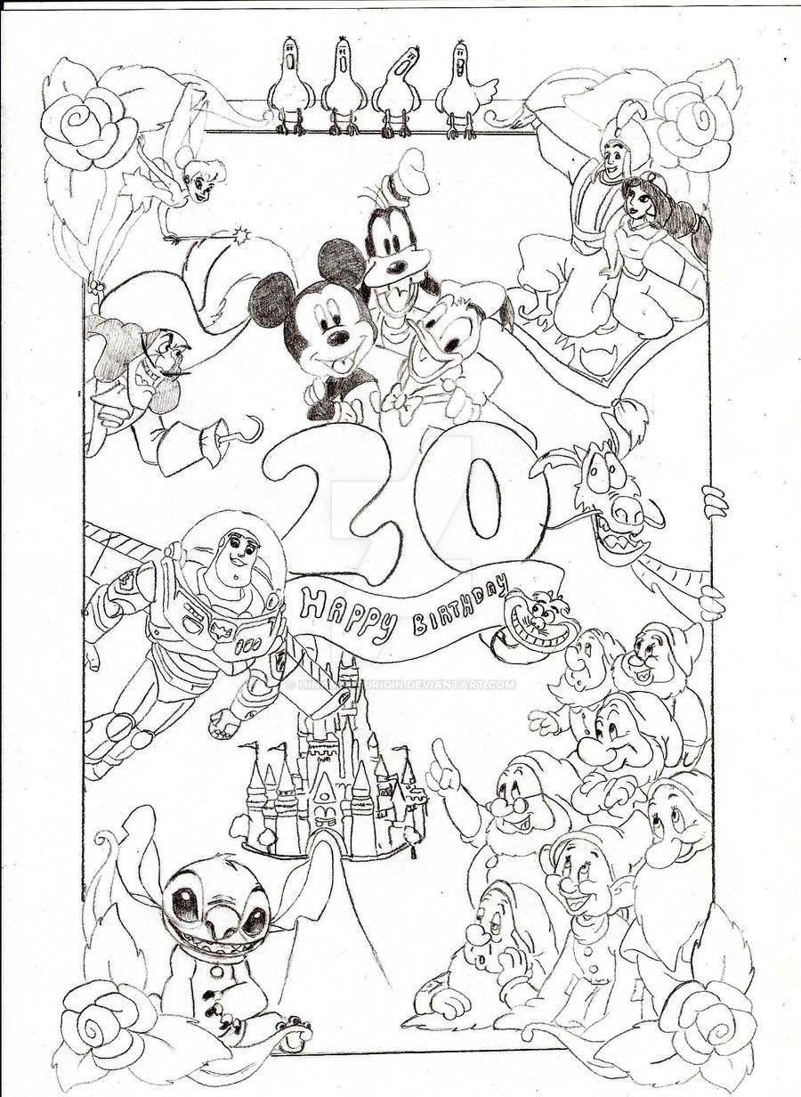 Disney Birthday Card by HinamatsuriGin on DeviantArt