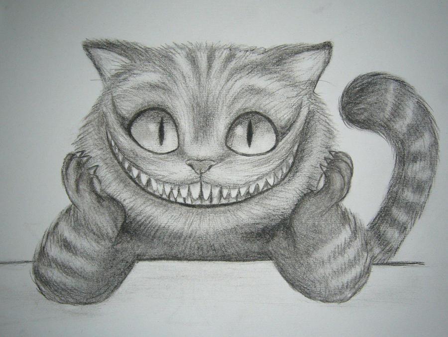 Как нарисовать чеширского кота поэтапно из фильма алиса в стране чудес