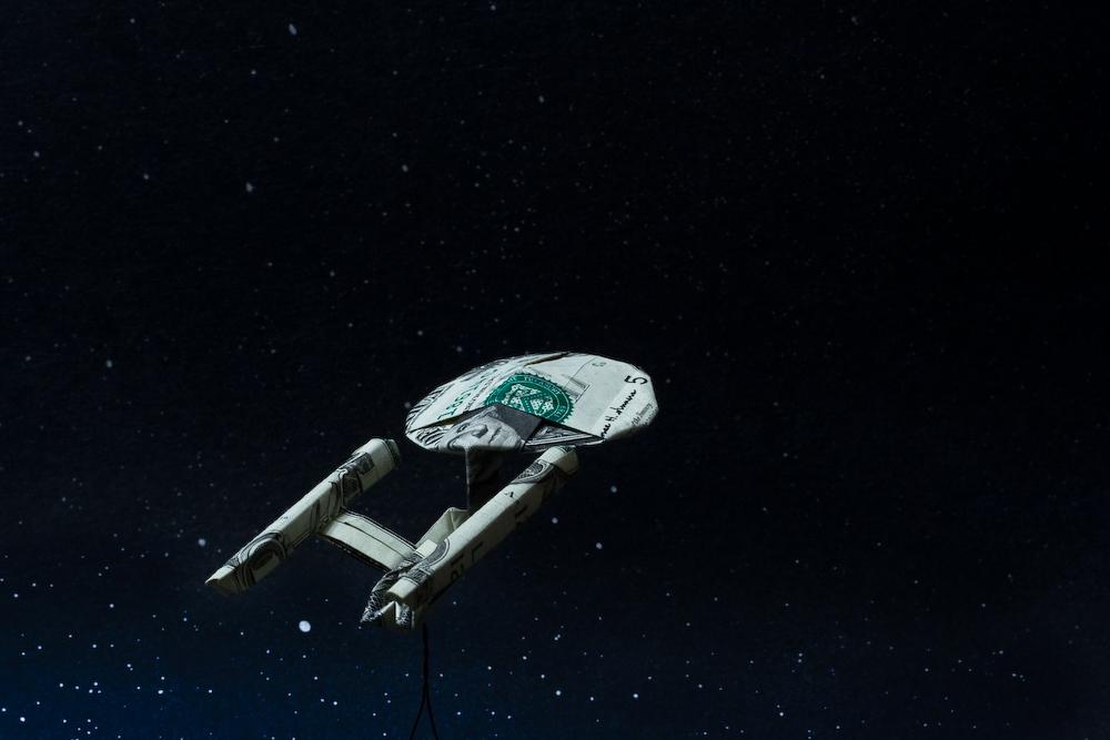 Star Trek Enterprise Top view by orudorumagi11