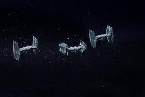 Vader's Tie and escorts by orudorumagi11