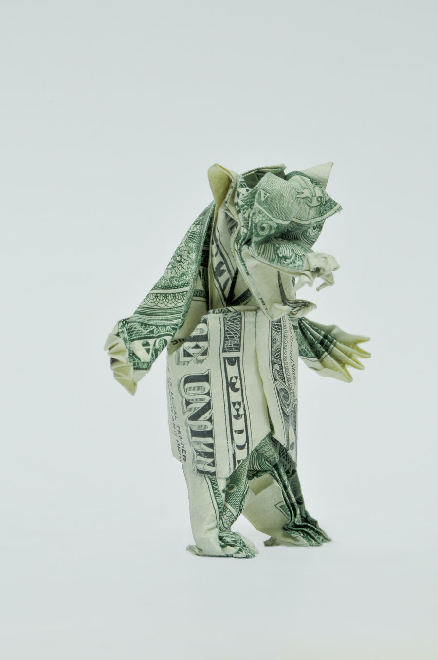 dollar origami by won park oculoid art amp design
