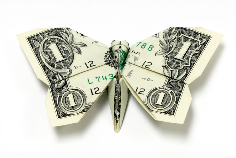 New One Dollar Butterfly by orudorumagi11