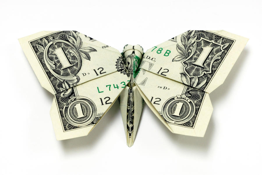 New One Dollar Butterfly