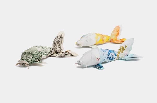 dollar bill origami koi, dollar fish (preview), money origami ... | 394x600