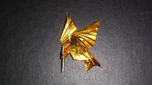 Origami  Mockingjay  from  Hunger Games bird only by orudorumagi11