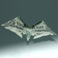 One Dollar Bat by orudorumagi11