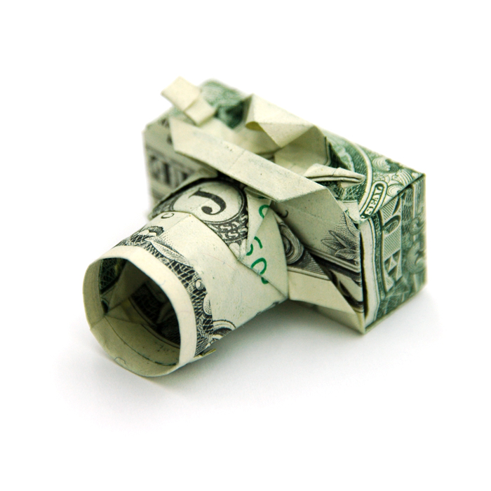 Origami com dólar