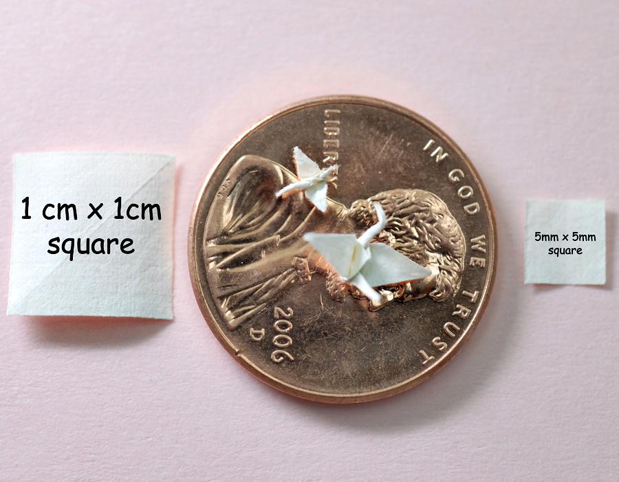Miniature cranes by orudorumagi11
