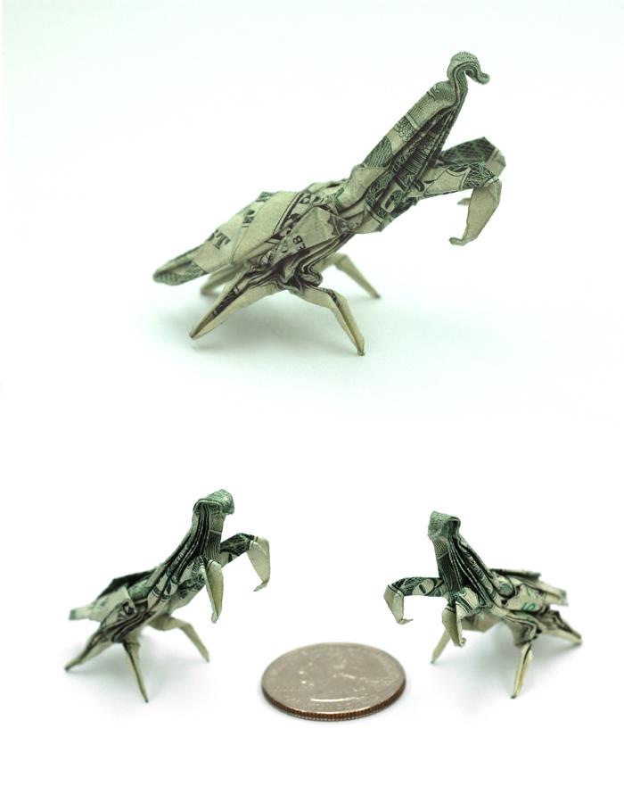 One Dollar Praying Mantis by orudorumagi11
