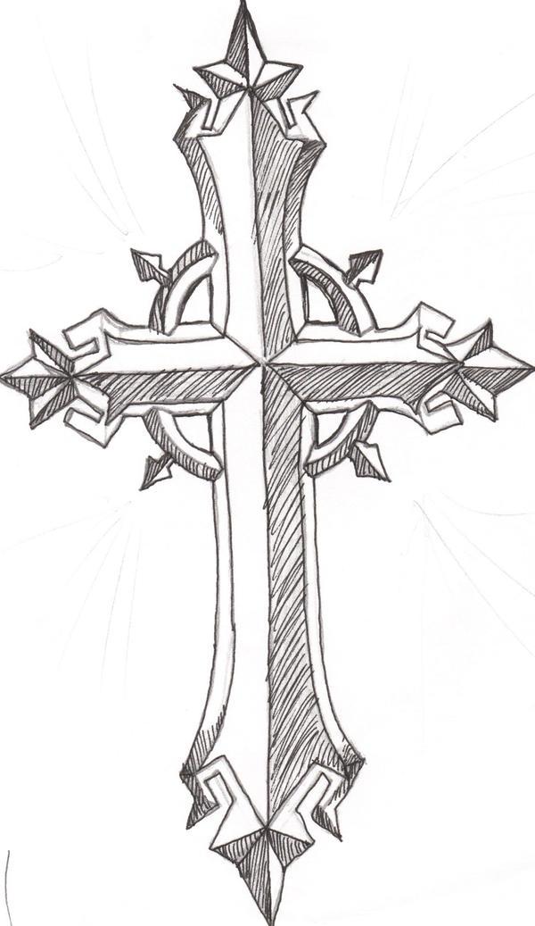 Cross Tattoo by thev1ru5 on DeviantArt