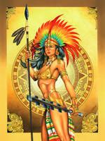 Guerrera Azteca by ELOart