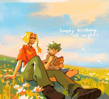 happy birthday, all might! by knightic