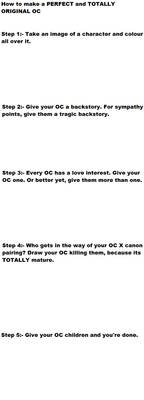 How to make an ORIGINAL OC (blank)