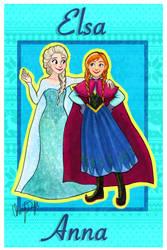 Elsa and Anna by Merina-Sky