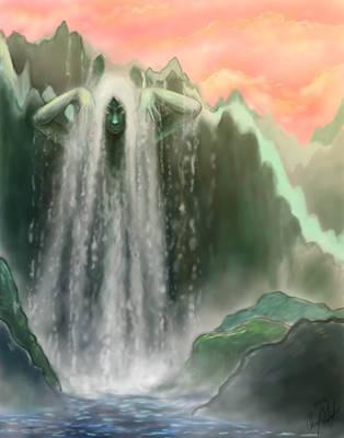 The Waterfall Spirit by Merina-Sky