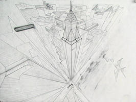 Cityscape 3 point perspective by Jinzo-eX