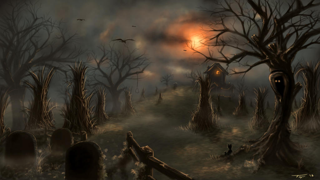 Halloween Desktop Background, 2013 by miztaryn on DeviantArt