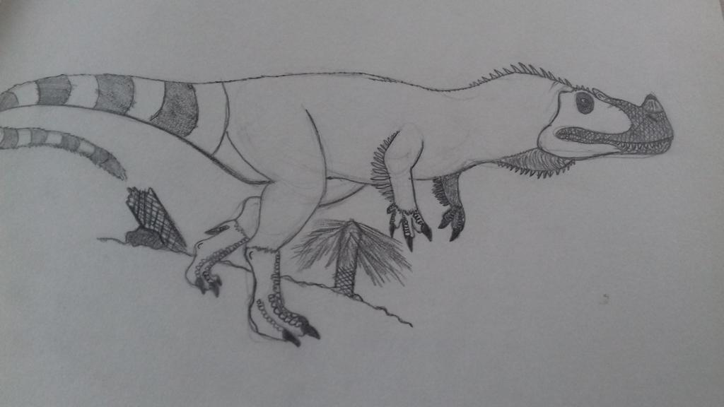 ceratosaurus  by godzilla2030