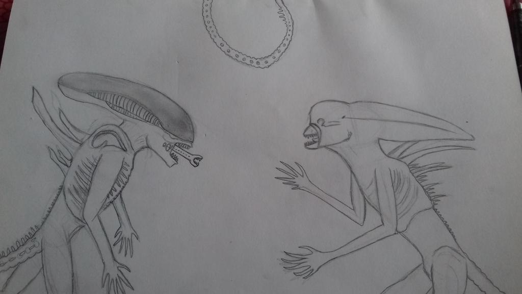 neomorph vs protomorph  by godzilla2030