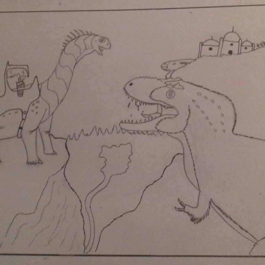 accurate dinotopia  by godzilla2030
