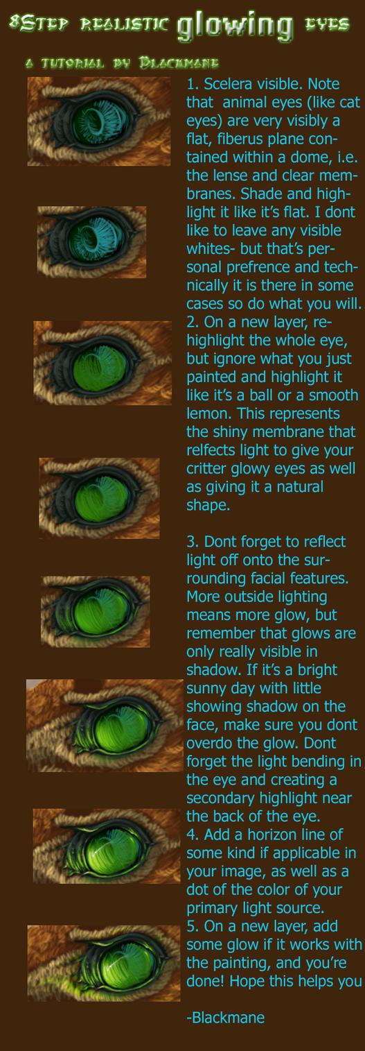 Glowing Eyes in 8 easy steps by Blackmane