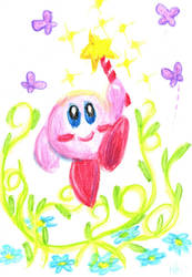 Watercolor Kirby