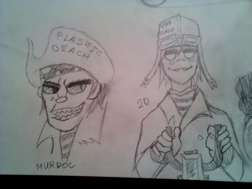 Murdoc and 2D by RussianMurdoc