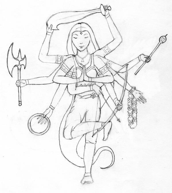Durga- Sketch By Squeakers-Chibi On DeviantART