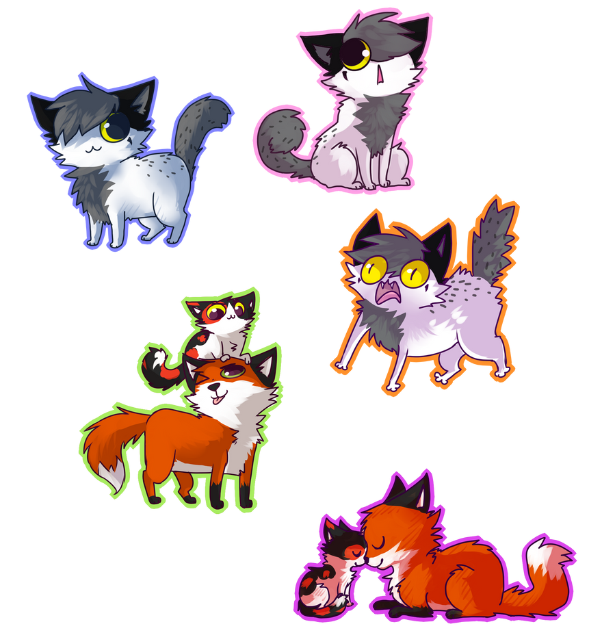 Mitchthefoxcatwolf Chibi Batch //PC by rizusaur