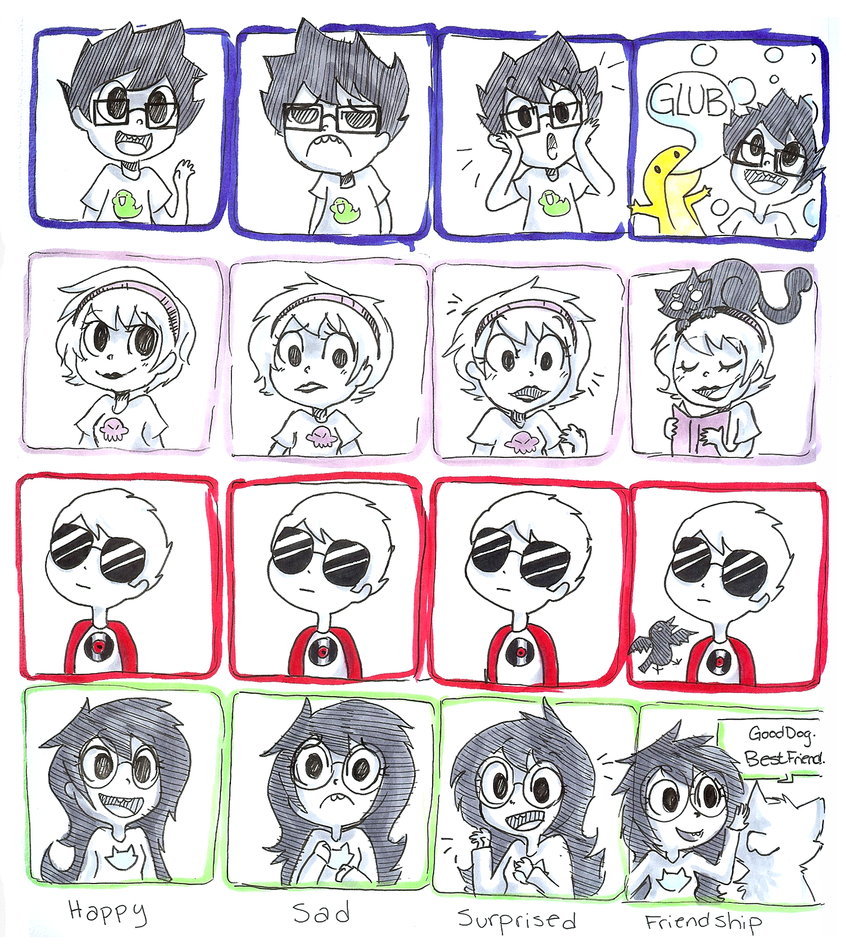 kid emotions by memedokis